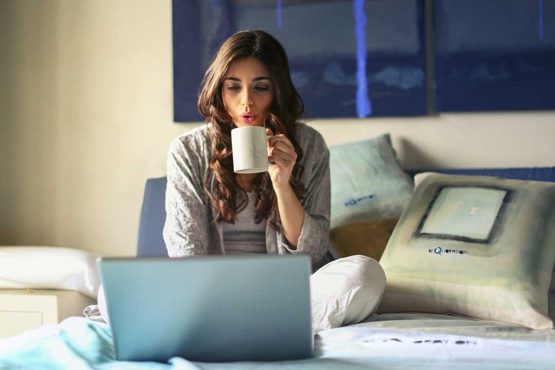 A woman who is flexible enough to work from home to improve her career growth