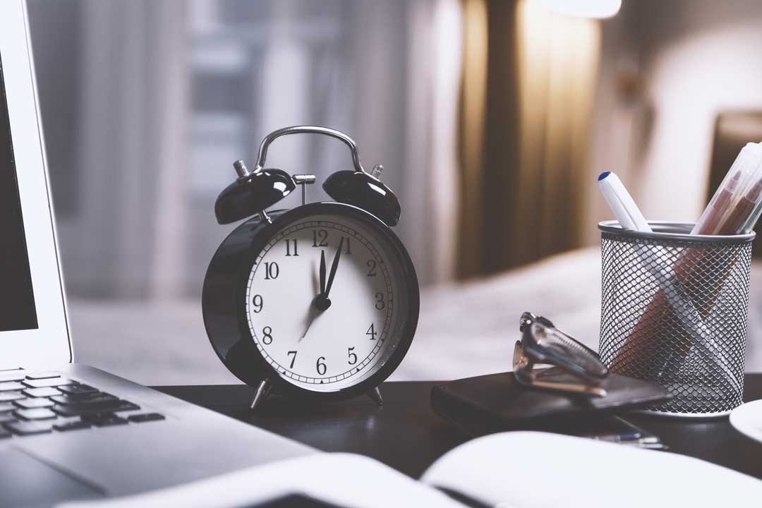 Alarm clock is a tool to improve time management